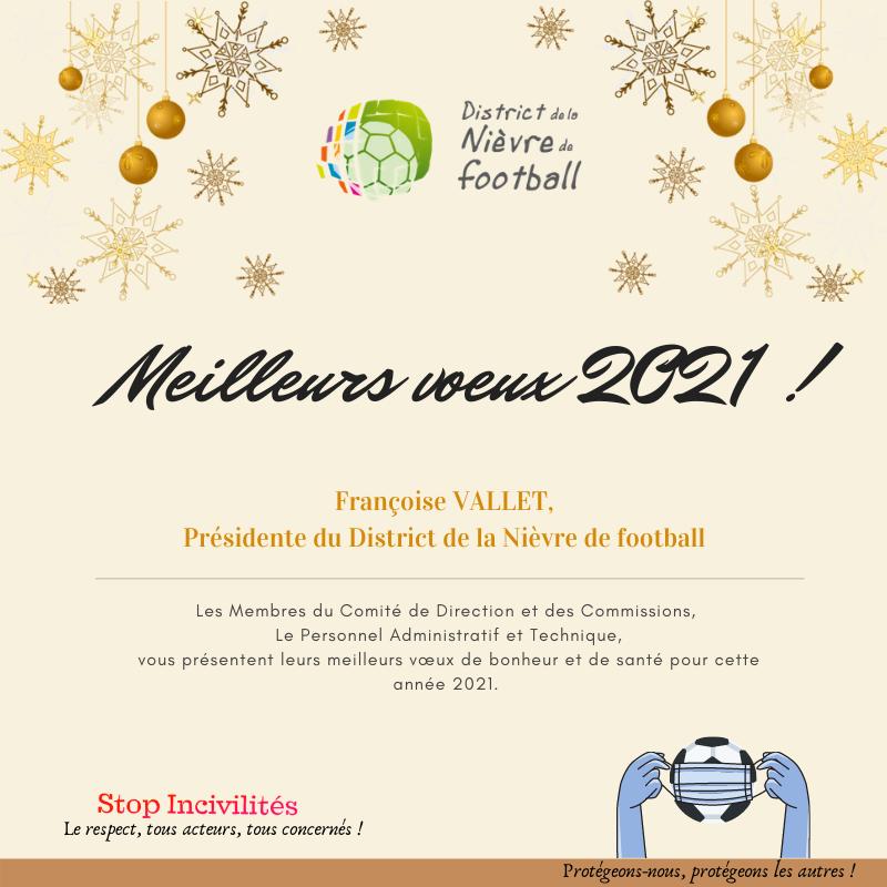 Meilleurs Vœux 2021 District De La Nievre De Football